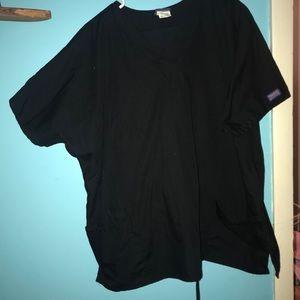 Cherokee XL Black scrub shirt